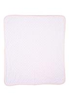 Home Grown Africa - Baby Blanket in Sateen Plush Pale Pink