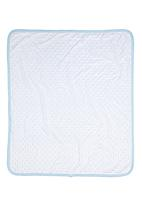 Home Grown Africa - Baby Blanket in Sateen Plush Pale Blue