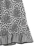 Just chillin - Print Dress with Pintucks Black/White
