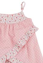 Just chillin - Baby Wrap Top and Bloomer Set Dark Pink
