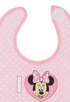 Character Baby - Mini Mouse Jersey Bib Pale Pink