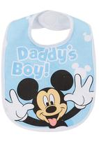 Character Baby - Mickey Mouse Jersey Bib Pale Blue