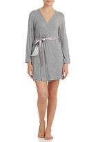 edge - Gown with Ribbon Detail Grey