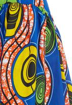 AfroDizzy - Midi African-print Skirt Multi-colour