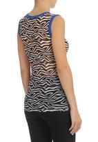 Marianne Fassler - Zebra Gauze Vest Top Multi-colour