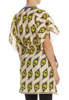 Marianne Fassler - Kaftan Peacock Print Multi-colour