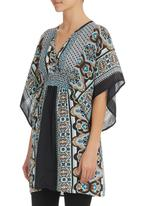 She's Cool - Batwing Tunic Multi-colour