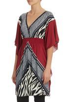 She's Cool - Kimono Tunic Red
