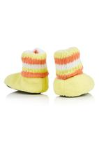 da3ee7d8d368 Winnie the Pooh Bootie Slippers Yellow Character Baby Shoes ...