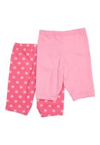 Precioux - 2-pack Baby Leggings Dark Pink