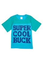 Precioux Bucks - Boys Slogan T-shirt Turquoise