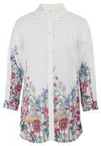 STYLE REPUBLIC - Lace Inset Shirt Multi-colour