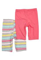 Precioux - 2-pack Baby Leggings Dark Pink