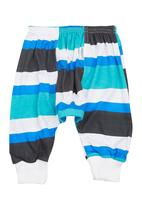 Precioux Bucks - Baby Boys Cuffed Harem Pants Blue/White