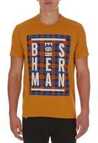 Ben Sherman - Tartan-printed T-shirt Orange
