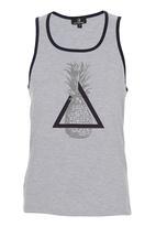 STYLE REPUBLIC - Pineapple-print Tank Grey