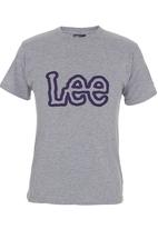 Lee  - Heavy Logo T-shirt Mid Grey
