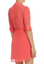 edit - Shirt Dress Coral