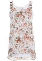edge - Floral-printed Tunic Multi-colour