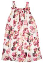 Sam & Seb - Girls Dress with Peony Floral Multi-colour
