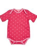 Sam & Seb - Polka-dot Babygro Dark Pink