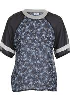 edge - Floral Sporty Blouse Blue