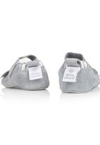 shooshoos - Butterfly Leather Shoes Silver