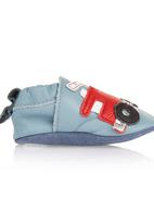 shooshoos - Leather Fire Engine Shoes Multi-colour