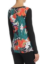 Smash - Long-Sleeve T-Shirt with Tropical Print Multi-colour