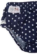 Pickalilly - Frilled Diaper Set Navy