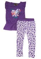 Twin Clothing. - Giraffe-print Set Purple