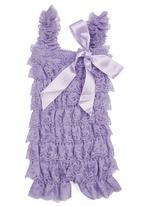 Smitten - Lace Romper Purple