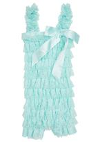 Smitten - Lace Romper Turquoise
