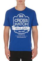 Crosshatch - Luxout Tee Mid Blue