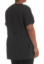 KARMA - Hip-length Tunic  Black/White