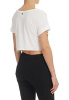All About Eve - Eve Striker Crop T-Shirt White