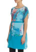 Marique Yssel - Sheer Tunic Dress Turquoise