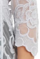 Spree Designer - Embroidered Mesh Top Grey