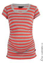 Cherry Melon - V-Neck Side Gauge Top Coral