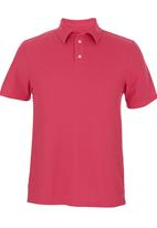 edited - Self Collar Golf Shirt Dark Pink