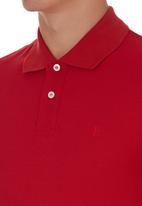 edited - Golf Shirt Knit Collar Red