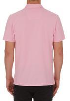 edited - Self Collar Golf Shirt Pale Pink