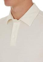 edited - Self Collar Golf Shirt White