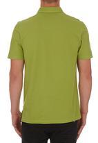 edited - Self Collar Golf Shirt Mid Green