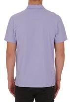 edited - Self Collar Golf Shirt Mid Purple