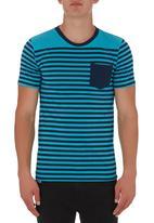 Fire Fox - Brett Striped T-shirt Turquoise