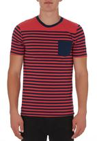 Fire Fox - Brett Stripe T-shirt Coral