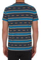 Fire Fox - Aztec T-shirt Dark Blue