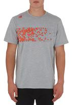 New Balance  - Athletic short-sleeved graphic tech tee Grey