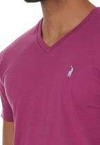 POLO - V-neck T-shirt Mid Pink
